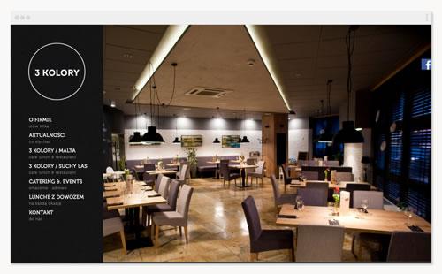 3 Kolory – witryna restauracji