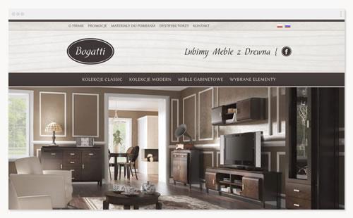 Bogatti – witryna firmowa